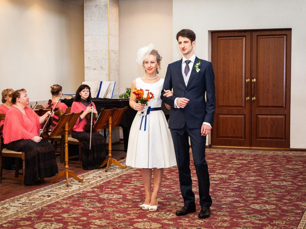 Свадебная фотосессия Льва и Екатерины в загсе №4